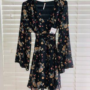 Free People Lilou Dress Retro Black (Small)